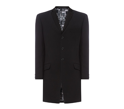 ben sherman black three quarter coat