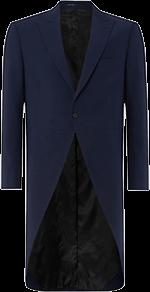 blue slim fit tailcoat