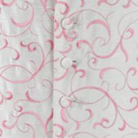 waistcoat ivory pink scroll