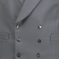 Grey Double Breasted Waistcoat