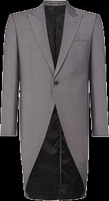 grey slim fit tailcoat