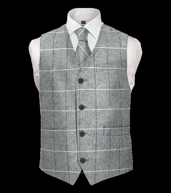 tweed grey waistcoat