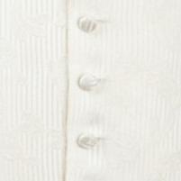 waistcoat ivory leaf stripe