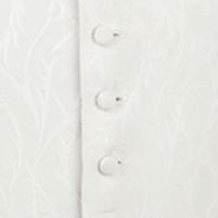 waistcoat ivory leaf