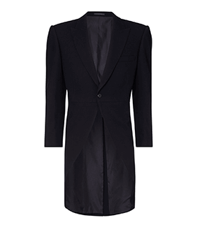 Navy Herringbone Tailcoat