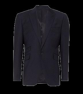 navy tailored short jacket