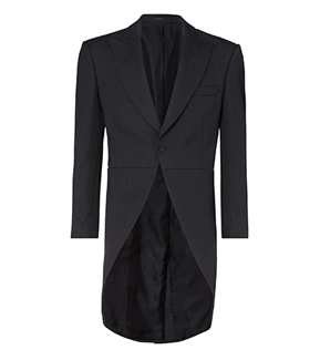 slate grey herringbone tailcoat