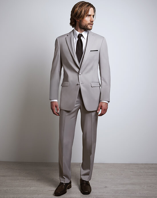Allure Men Cement Gray Tux | Xedo Tuxedo Rental