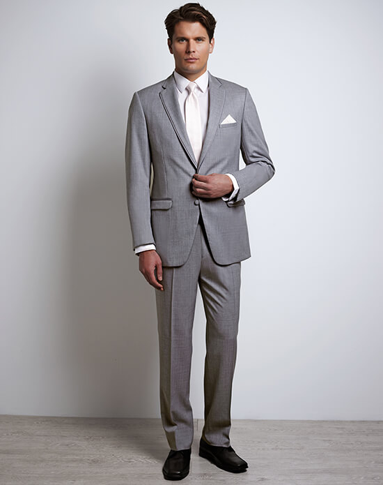 Allure Men Heather Gray Tux | Xedo Tuxedo Rental